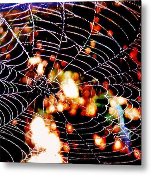 Spider Love Metal Print by Greta Thorsdottir