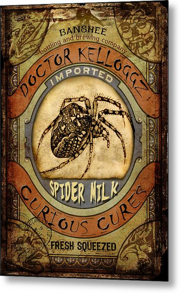 Spider Milk Metal Print