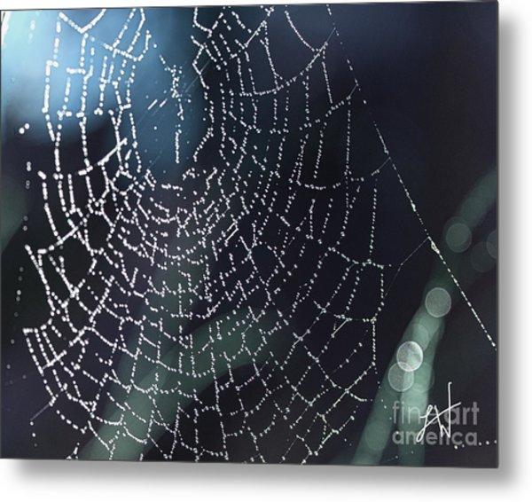 Spiderweb Blues Metal Print