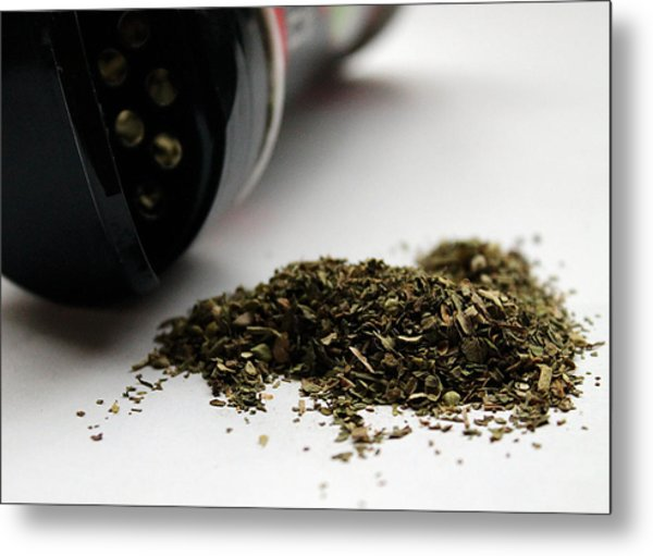 Spilled Seasoning Metal Print