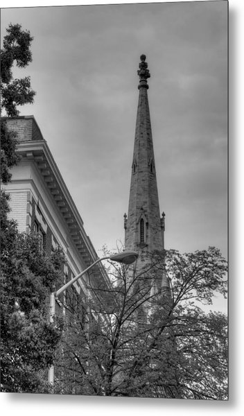 Spire From Trees Metal Print