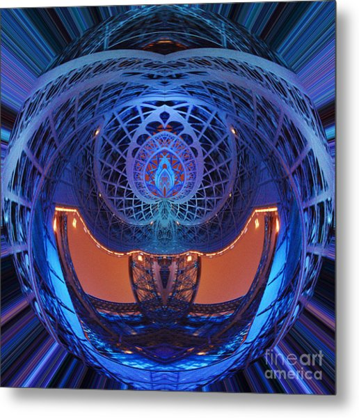 Spirograph Planet Metal Print