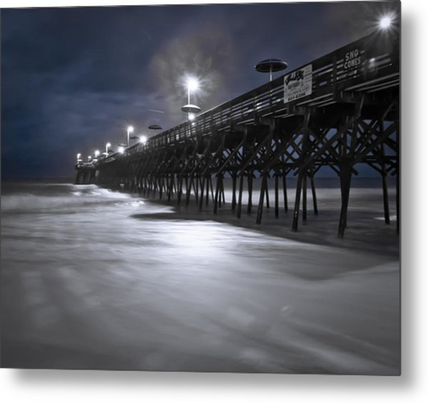 Metal Print featuring the photograph Spooky Pier by Francis Trudeau