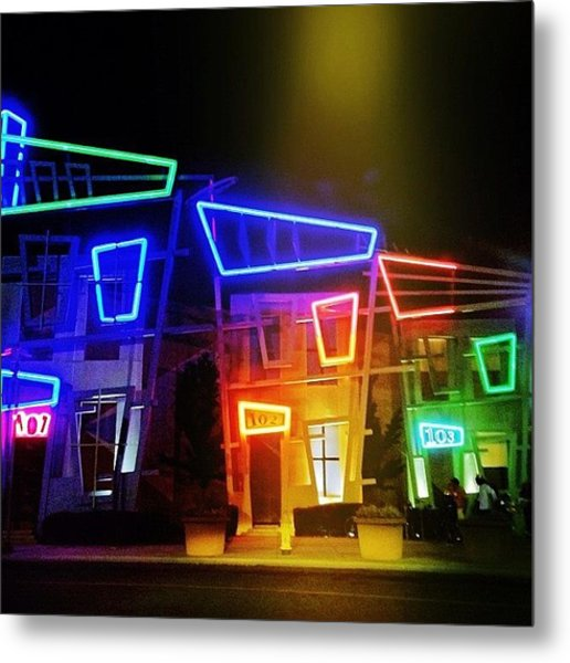 Spotlight Nightlife Metal Print