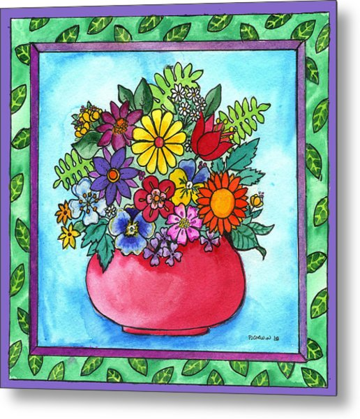 Spring Bouquet Metal Print by Pamela  Corwin