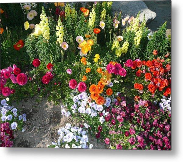 Spring Flower Garden Metal Print