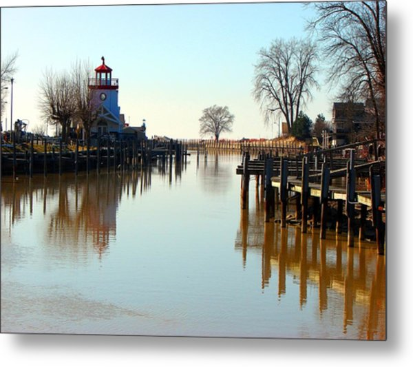 Spring On The Ausable River At Grand Bend Metal Print