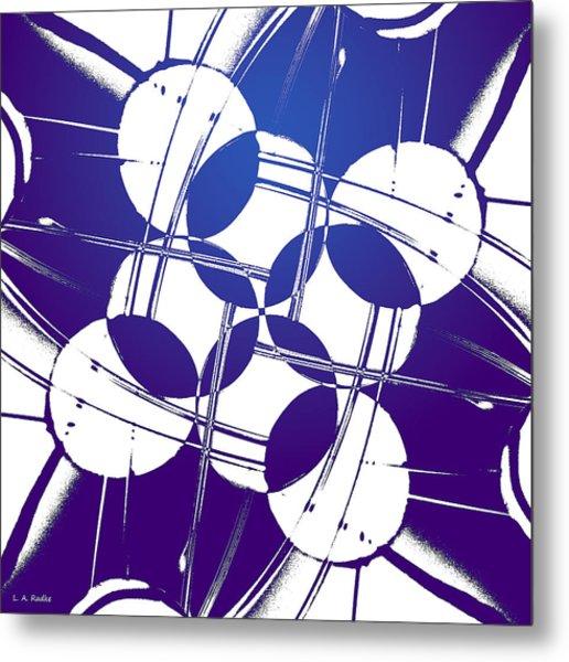 Square Circles Metal Print