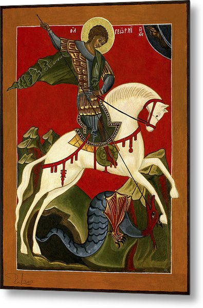St George And The Dragon Metal Print