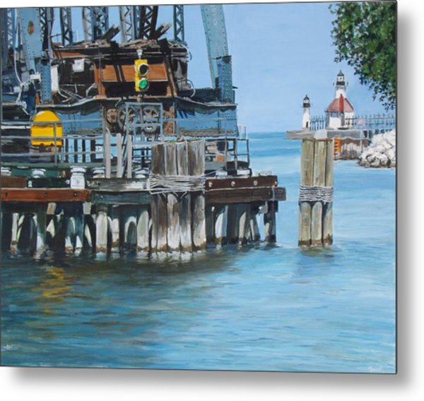 St. Joseph Swing Bridge Metal Print