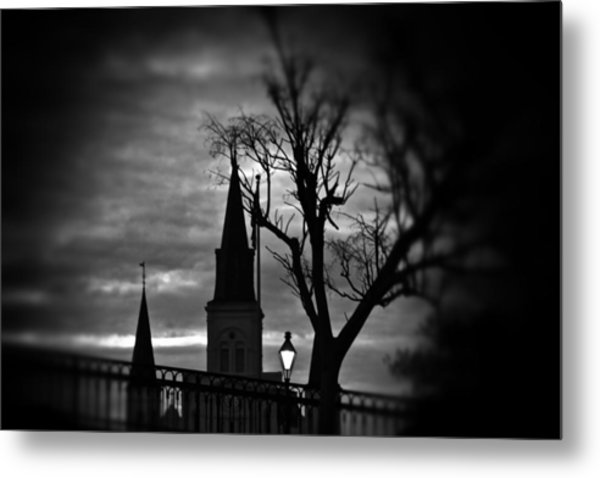 St. Louis Cathedral At Night 1 Metal Print