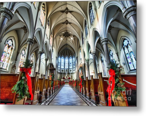 St Louis Church 4 Metal Print by Chuck Alaimo