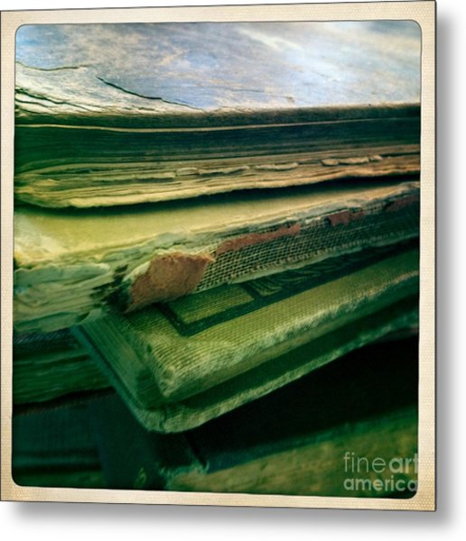 Stack Of Old Books Metal Print by Ruby Hummersmith