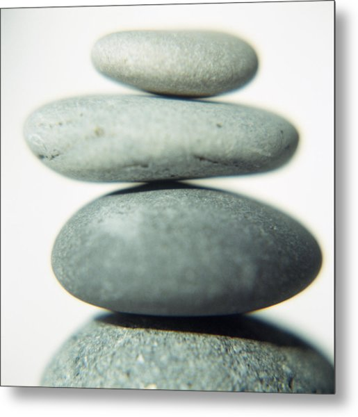 Stacked Pebbles Metal Print by Cristina Pedrazzini