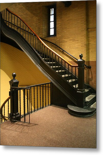 Staircase In The Boston Armory Metal Print