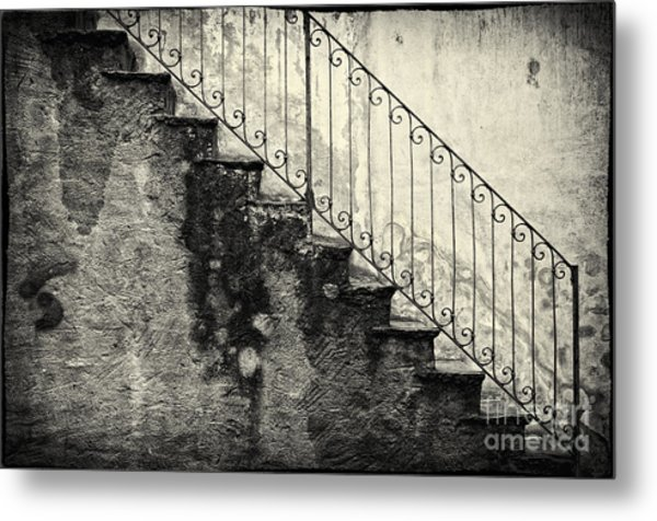 Stairs On A Rainy Day Metal Print
