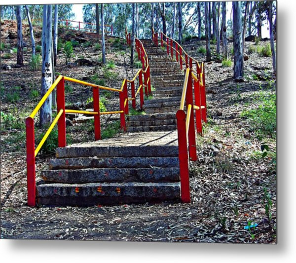 Stairway To Nowhere Metal Print by Peter P G