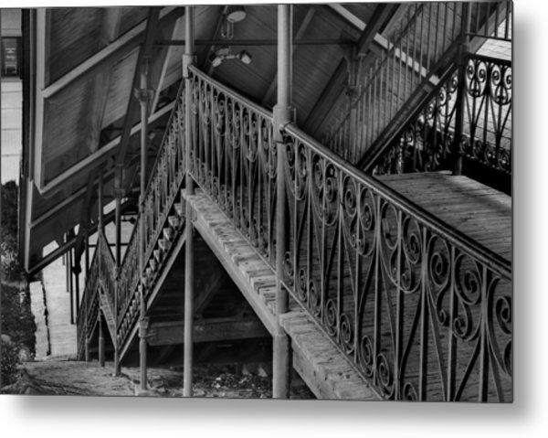 Stairway To Trains Metal Print