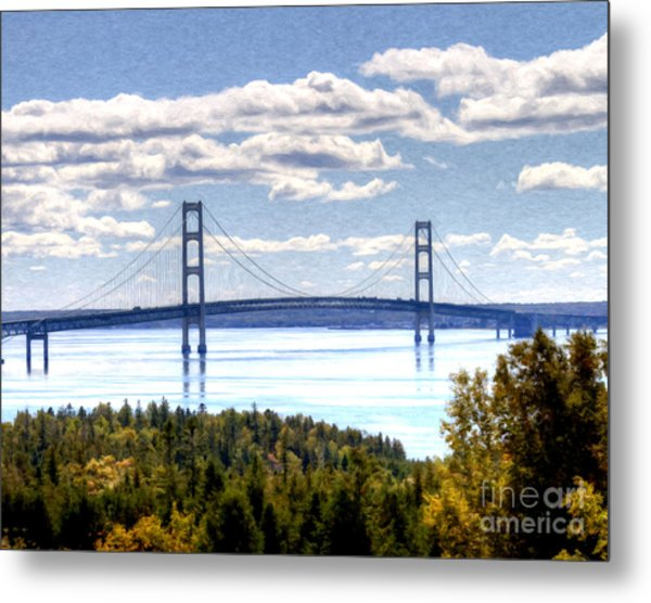 Staits Of Mackinac Metal Print
