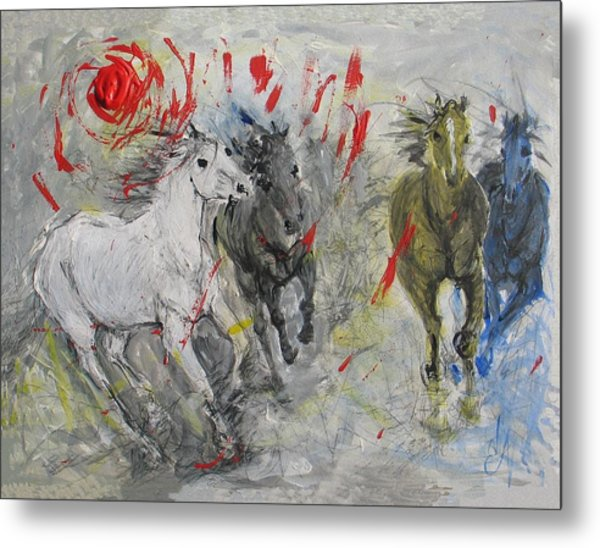 Stampede Sunset Metal Print