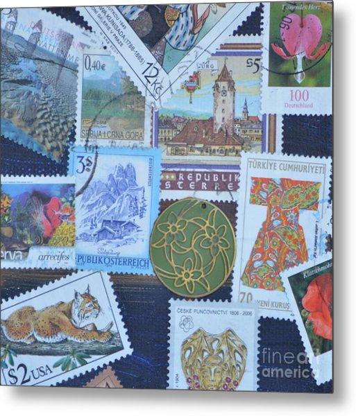 Stamps Metal Print
