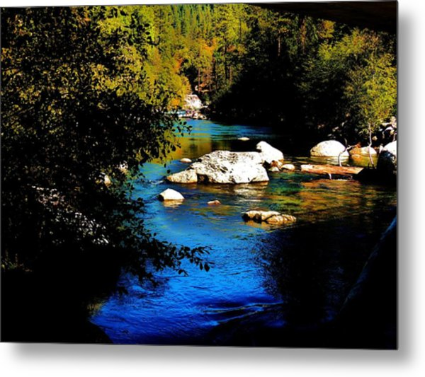 Stanislaus River Metal Print by Helen Carson