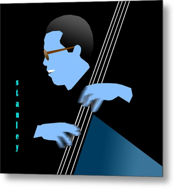 Stanley Clarke Blue Metal Print by Victor Bailey
