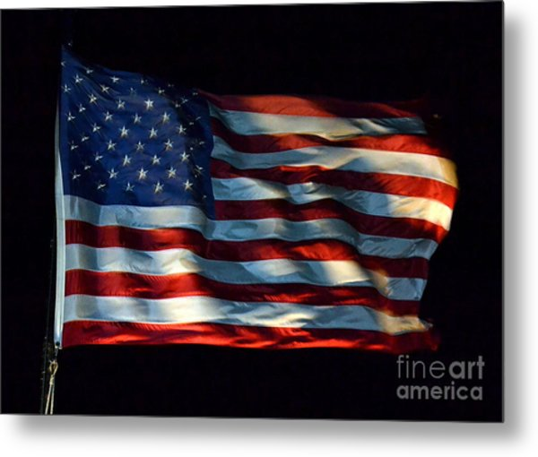 Stars And Stripes At Night Metal Print