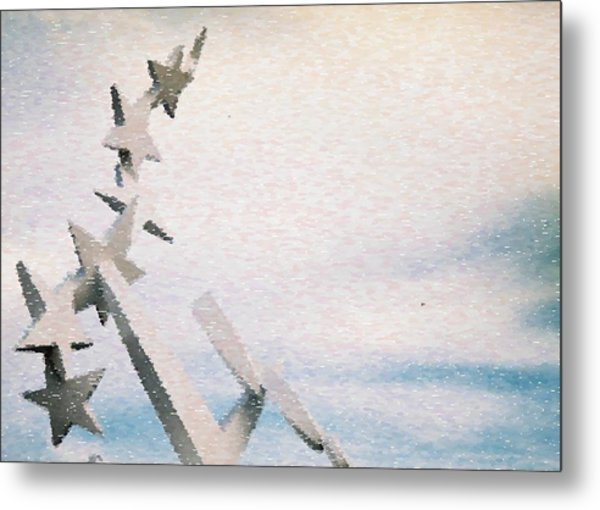 Stars By Day Sandstorm Metal Print by Ritter Photography And Fine Art Images