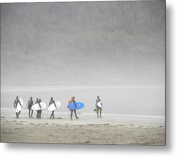 Start Your Day With A Wave Metal Print