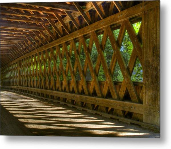 State Road Covered Bridge Metal Print