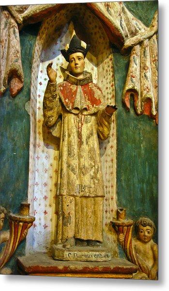 Statue Inside San Xavier Mission Metal Print