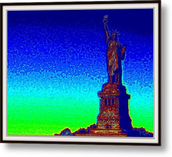 Statue Of Liberty-3 Metal Print by Anand Swaroop Manchiraju