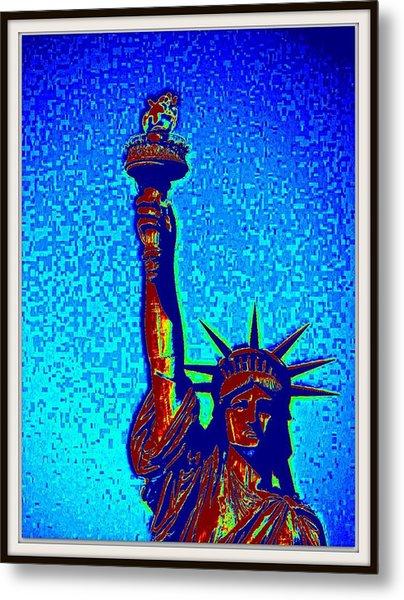 Statue Of Liberty-5 Metal Print by Anand Swaroop Manchiraju