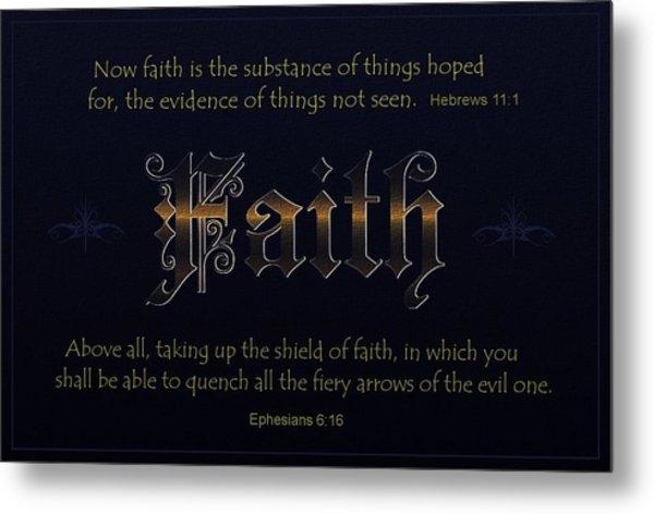 Steadfast Faith Metal Print by Greg Long