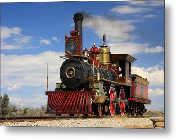 Steam Locomotive  Metal Print by Gene Praag