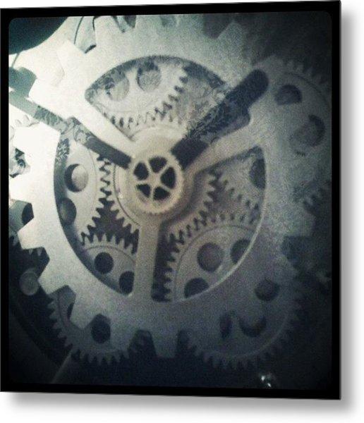 #steampunk #gears #clock #webstagram Metal Print