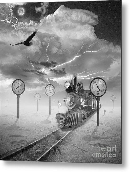 Steampunk Traveler Metal Print