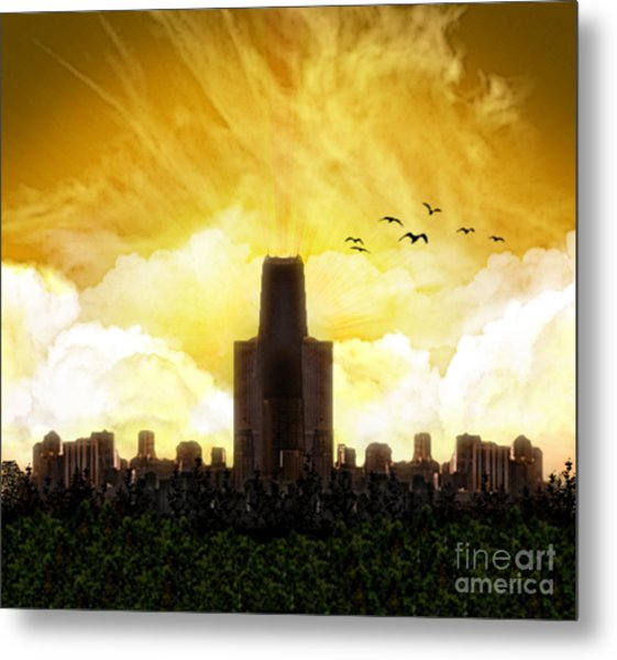 Steel City Dawn Metal Print