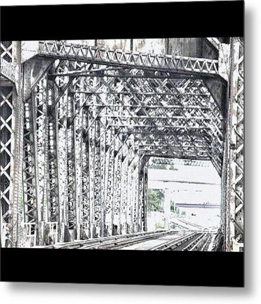 #steelbridge #steel #amtrack Metal Print