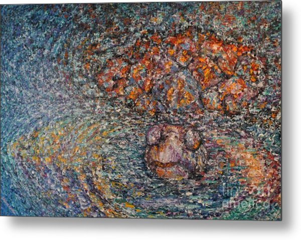 Sticking Your Neck Out  Metal Print by Sloane Keats