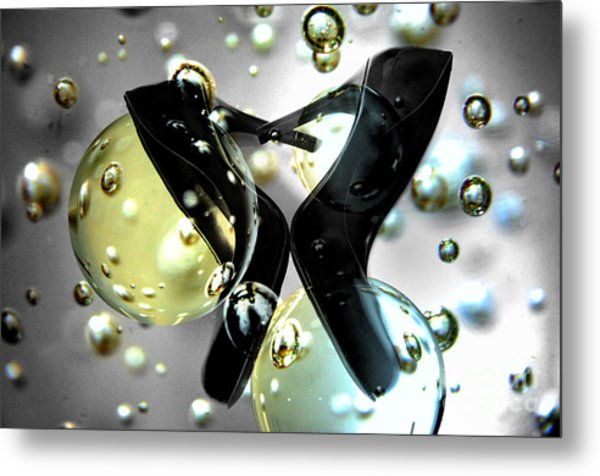 Stilettos Night Out Party Shoes Metal Print