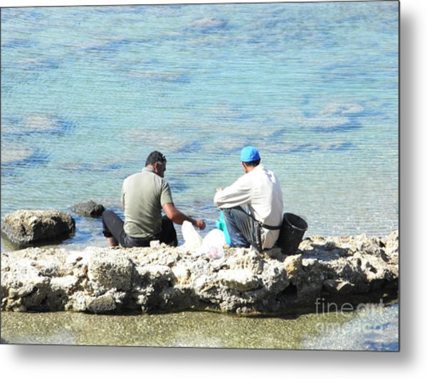 Still Fishing On The Sea Of The Galilee Metal Print