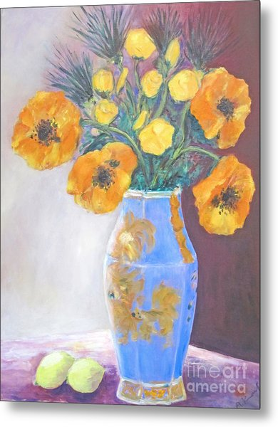 Still  Life With Blue Vase Metal Print