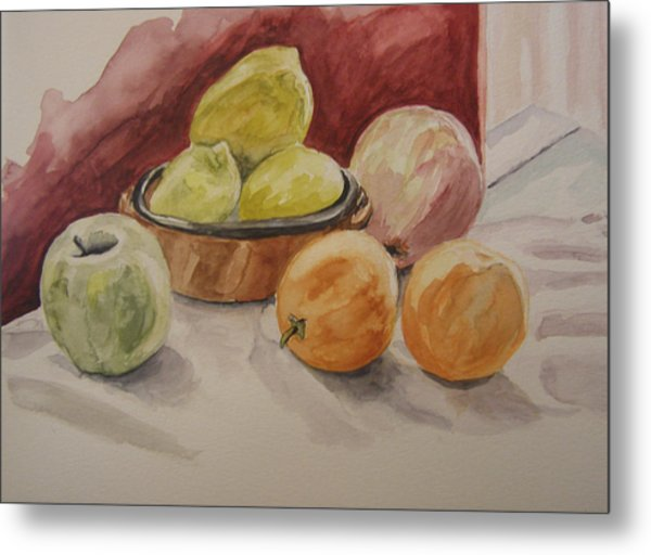 Still Life With Fruits Metal Print by Kate Partali