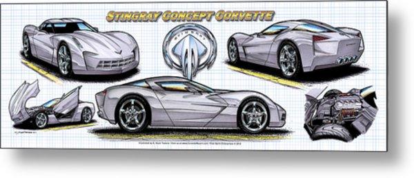 2010 Stingray Concept Corvette Metal Print
