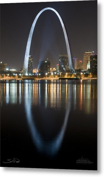 St.louis Arch Reflection Metal Print