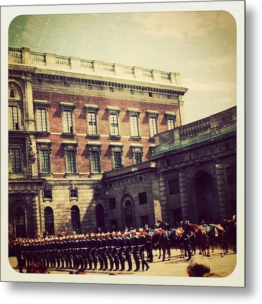 Stockholm Changing Of The Guards Metal Print