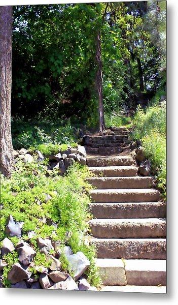 Stone Steps Metal Print by Myrna Migala