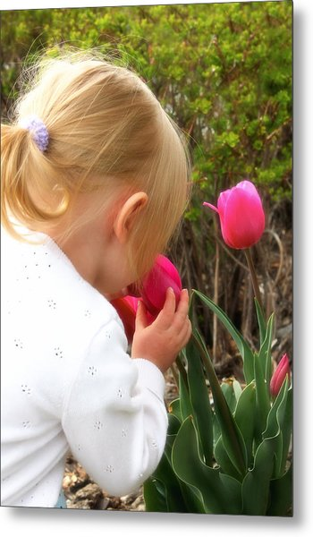 Stop To Smell The Flowers Metal Print